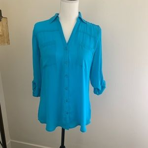 EXPRESS Portofino Shirt In Aqua 💧💧
